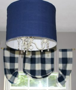 DIY Ceiling Light From A Thrift Store Lamp Shade