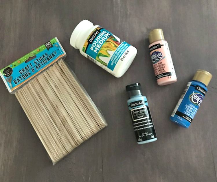 How To Make Fun Paint Poured Popsicle Stick Bracelets