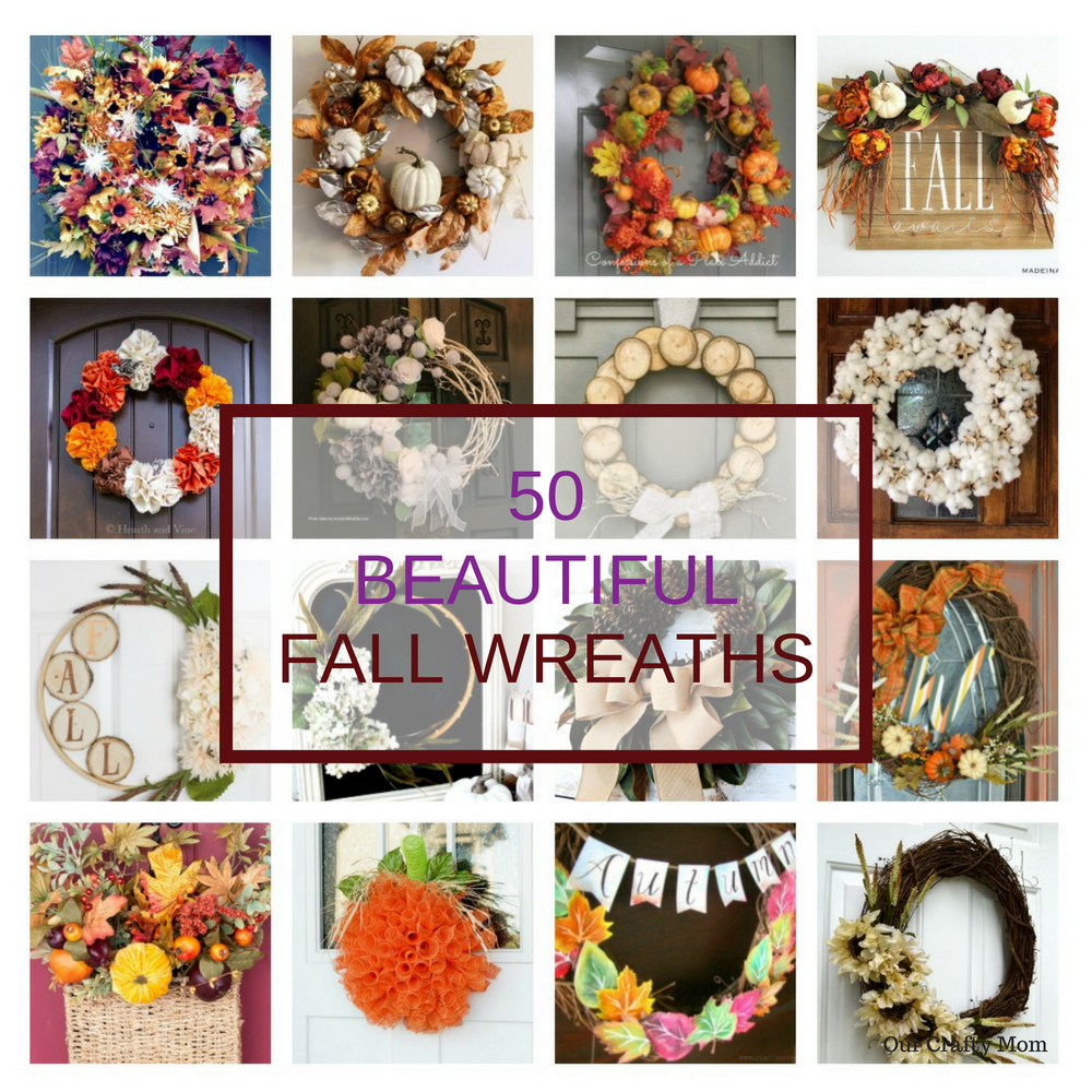 50 Beautiful Fall Wreaths Our Crafty Mom