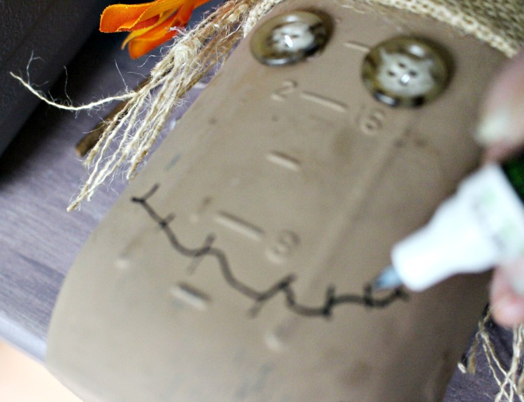 Painted Scarecrow Face Mason Jar