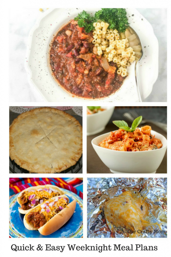 Quick & Easy Weeknight Meal Plans Your Family Will Love Our Crafty Mom