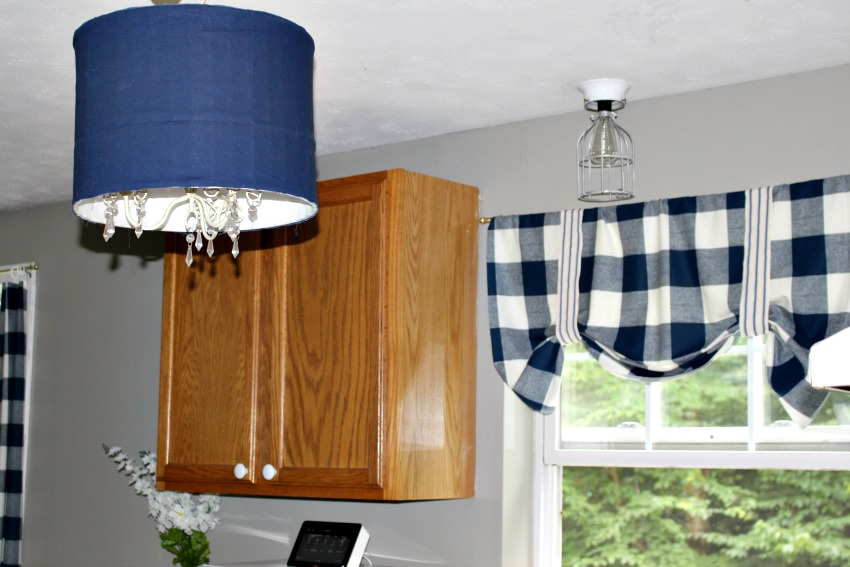 Upcycle A Drum Shade Into A Ceiling Light by Our Crafty Mom