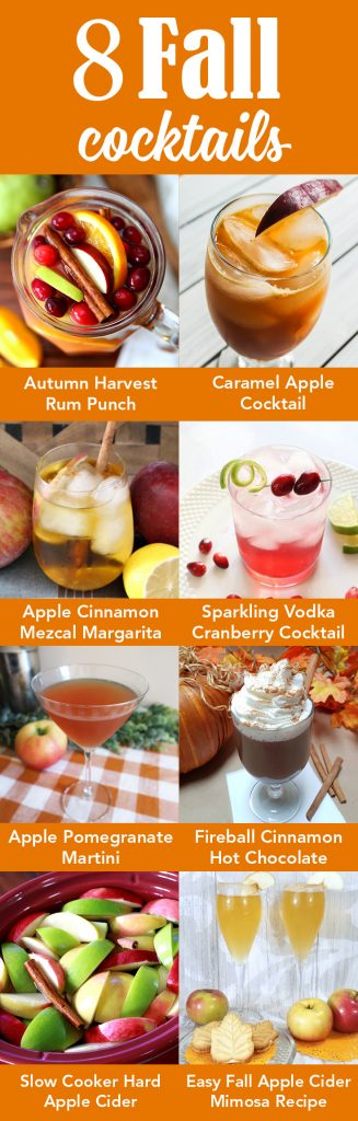8 Fall Cocktails Collage