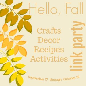 Hello Fall Link Party-All Things Craft, DIY, Recipes And More