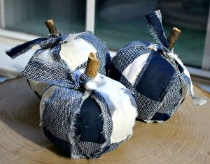 Adorable Buffalo Check Pumpkins From Dollar Store Finds
