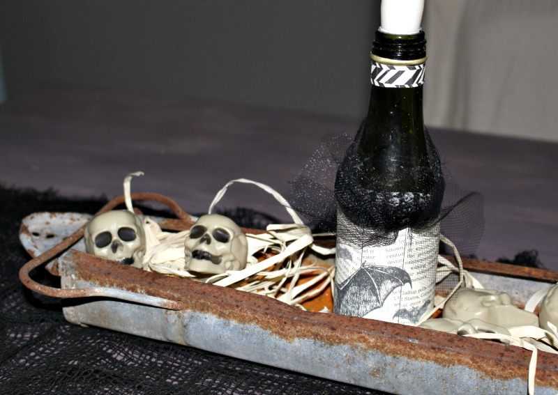 Close Up Halloween Centerpiece