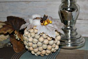 How To Make A Farmhouse Style Wood Bead Pumpkin