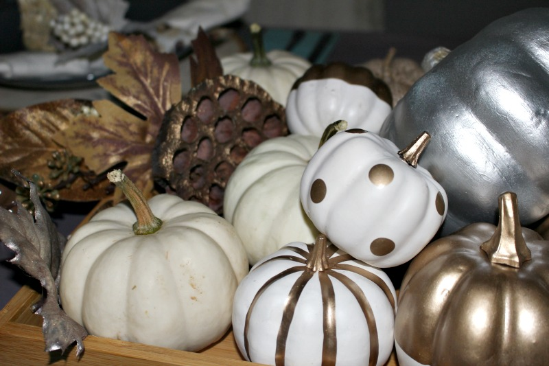 Close up Of Metallic Pumpkins Our Crafty Mom