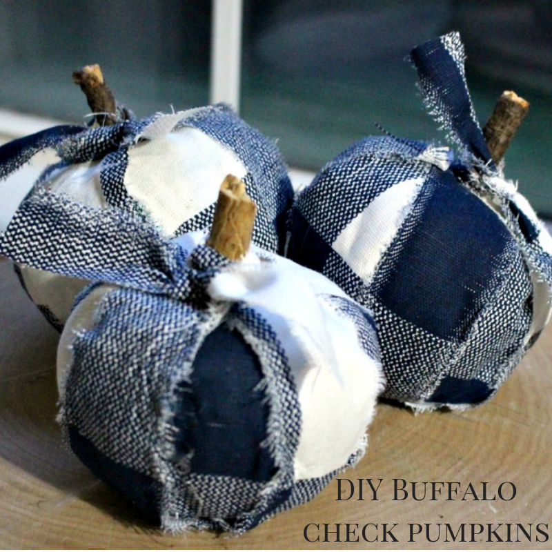 Adorable Buffalo Check Pumpkins From Dollar Store Finds #ourcraftymom #dollarstorechallenge #dollarstorefinds #buffalocheckpumpkins #dollarstorepumpkin #buffalocheck #falldecor #falldecorating