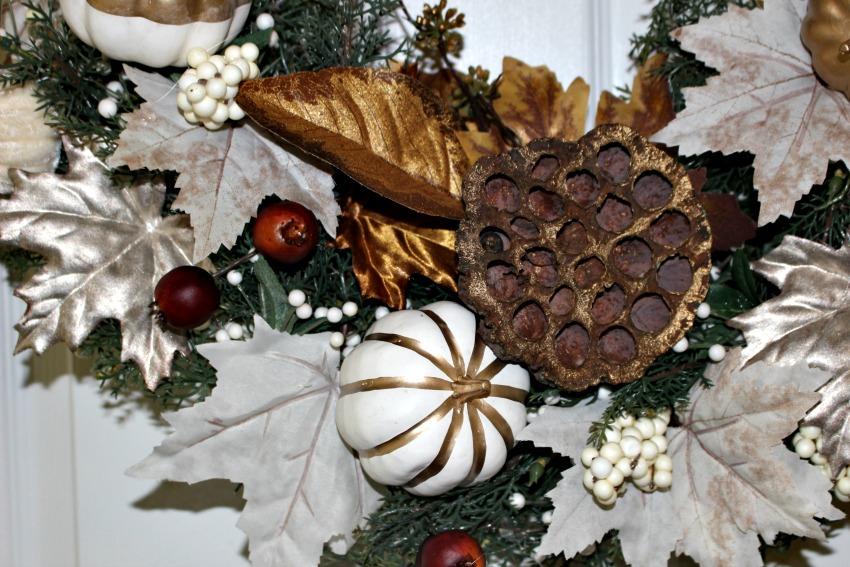 Gilded Leaves Fall Wreath