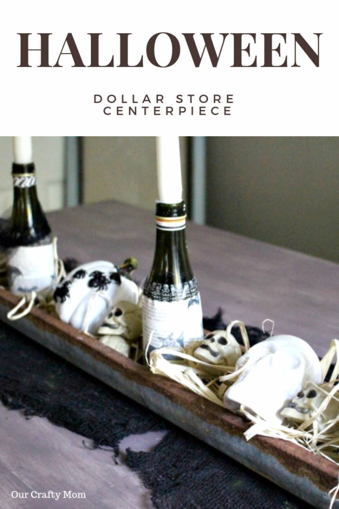 Dollar Store Halloween Centerpiece Our Crafty Mom #halloweencenterpiece #halloweendecorating #halloween #dollarstore #ourcraftymom