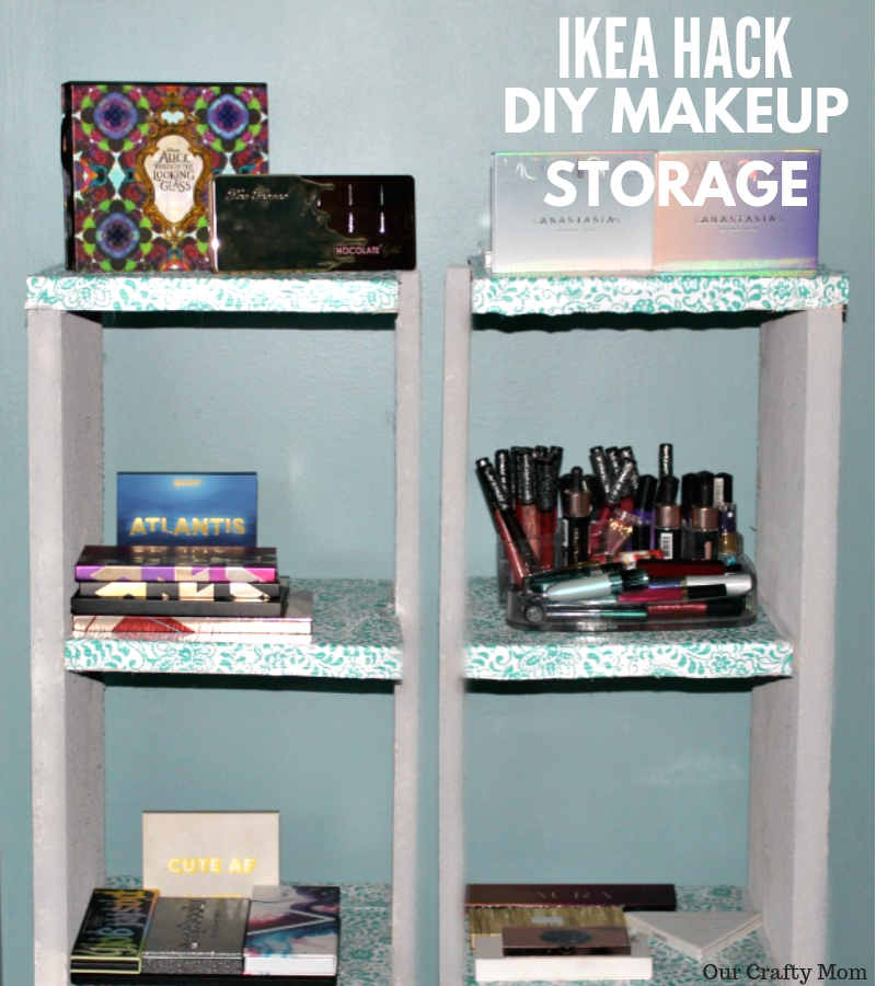 IKEA Hack - DIY Makeup Storage Our Crafty Mom