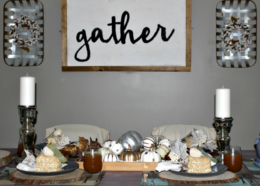 Metallic Fall Dining Room Our Crafty Mom