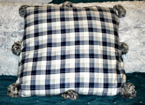 Make A Cozy No-Sew Flannel Throw Pillow
