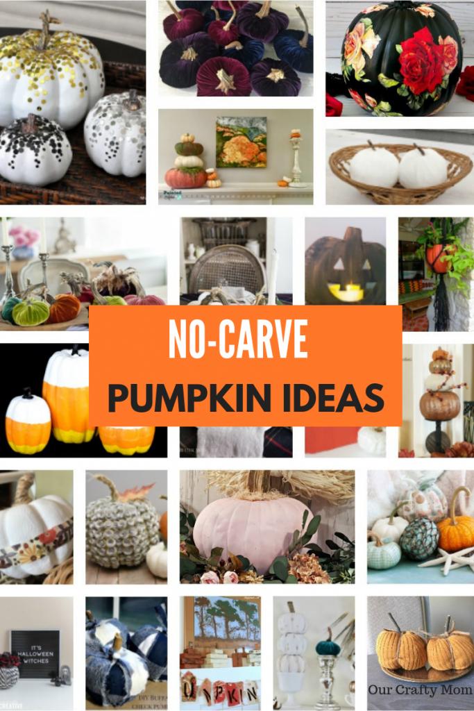 No-Carve Pumpkin Decorating Ideas Our Crafty Mom