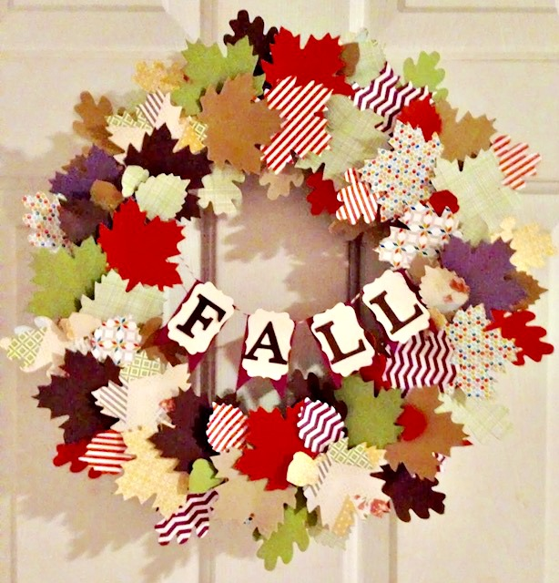 Paper Leaf Fall Wreath With Cricut Our Crafty Mom