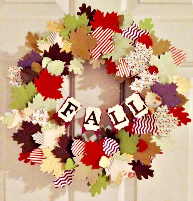 Paper Leaf Fall Wreath With Cricut Our Crafty Mom