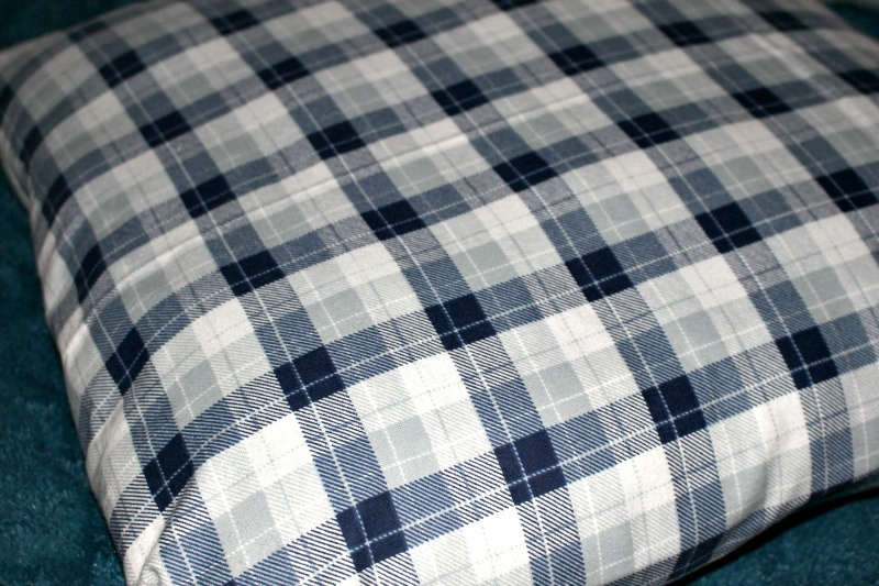 Plaid Flannel Fabric Pillow Our Crafty Mom