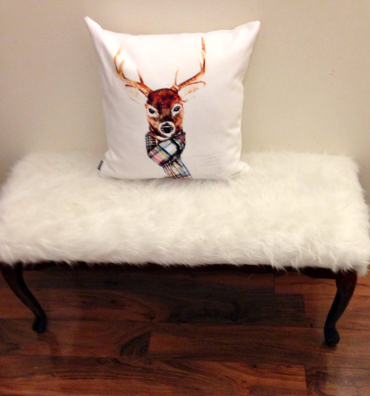 Refinished Fur Bench