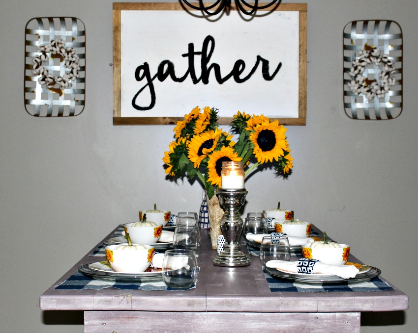 Sunflower Tablescape Our Crafty Mom