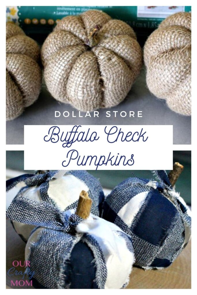 buffalo check pumpkins from dollar store
