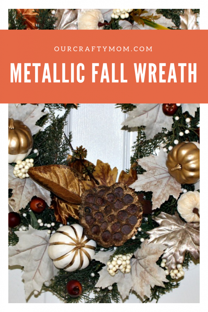 Metallic Fall Wreath Pinterest Image