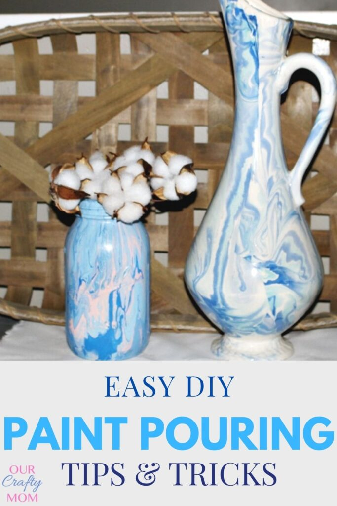 easy DIY paint pouring