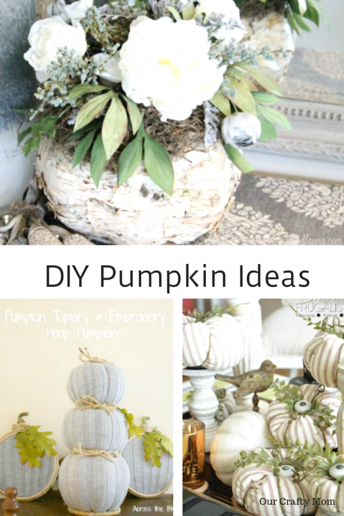 DIY Pumpkin Ideas Hello Fall Link Party Features #ourcraftymom #diypumpkins #falldecorating