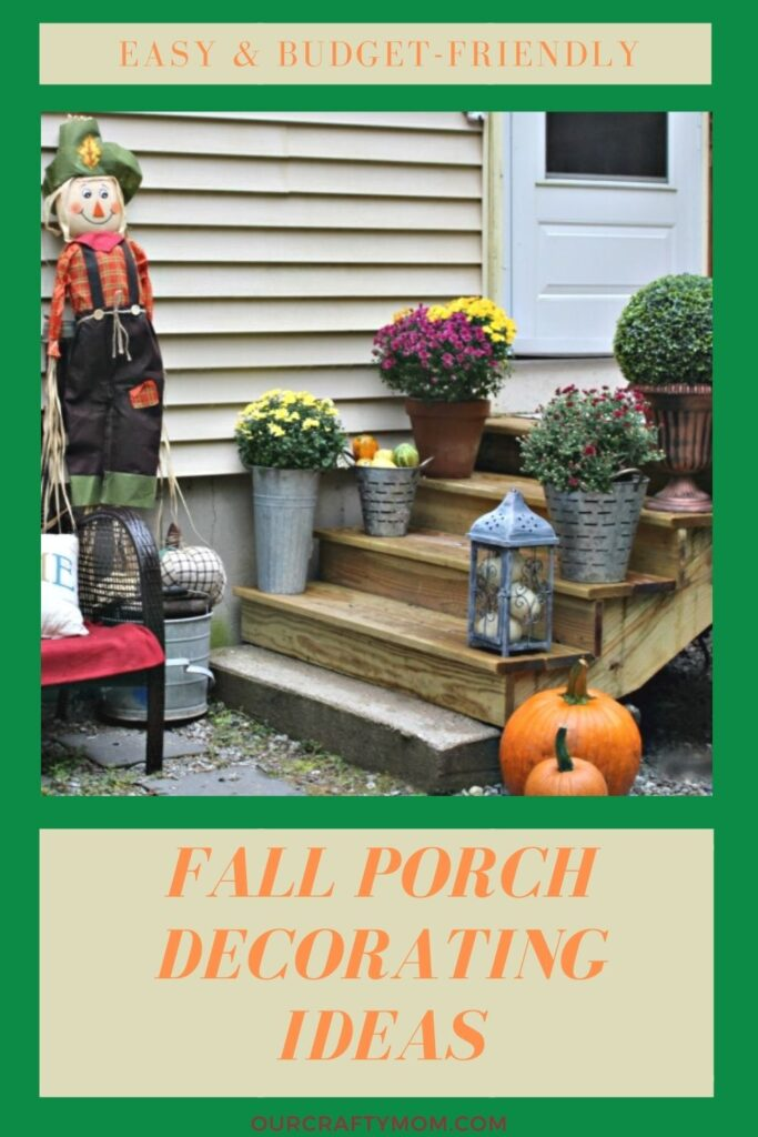 small porch decorating for fall