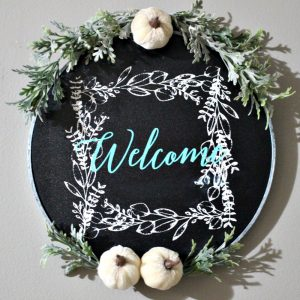 Finished Welcome Wreath