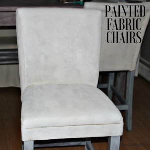 Painted Fabric Chairs Our Crafty Mom #fusionmineralpaint #oneroomchallenge #ourcraftymom