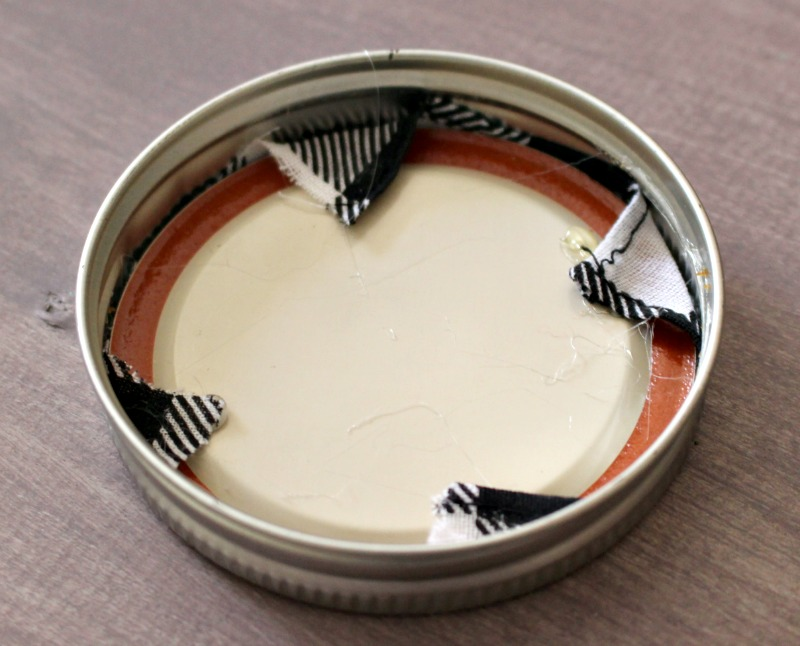 Mason Jar Lid Glued