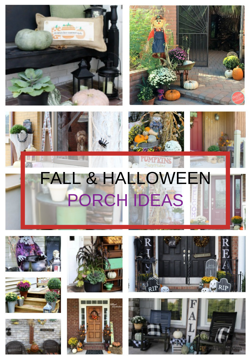 Fall & Halloween Porch Ideas Our Crafty Mom