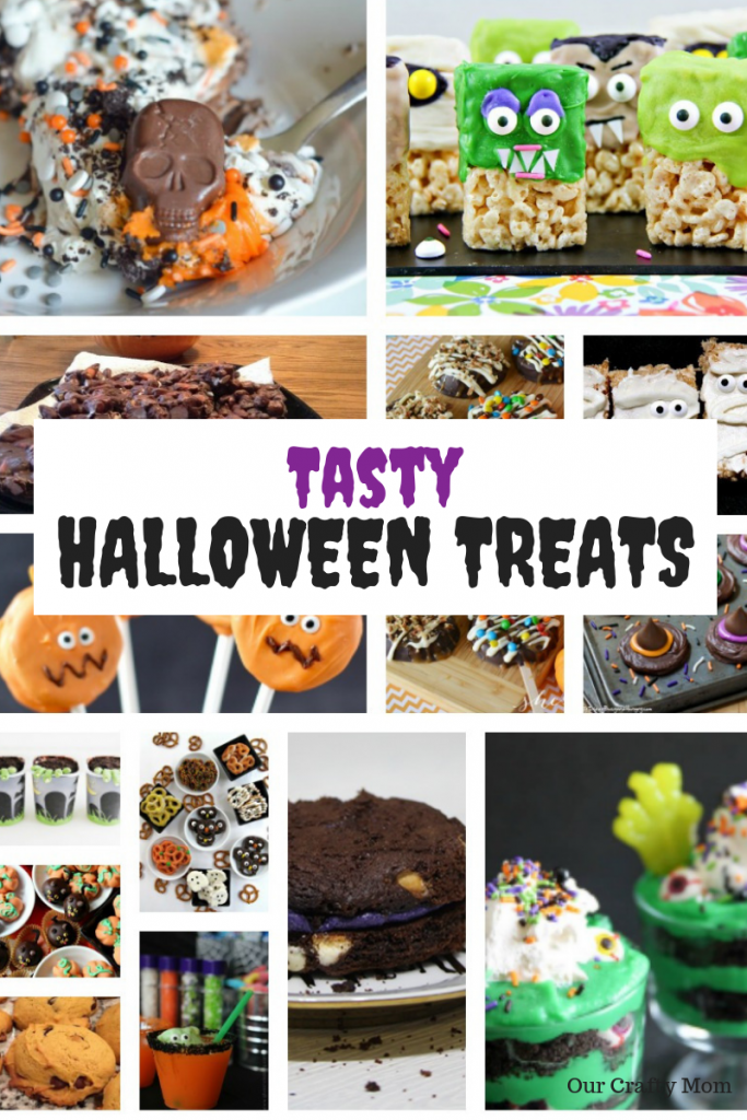 15 Tasty Halloween Treats The Kids Will Love! #ourcraftymom #halloweentreats #halloween #halloweensnacks