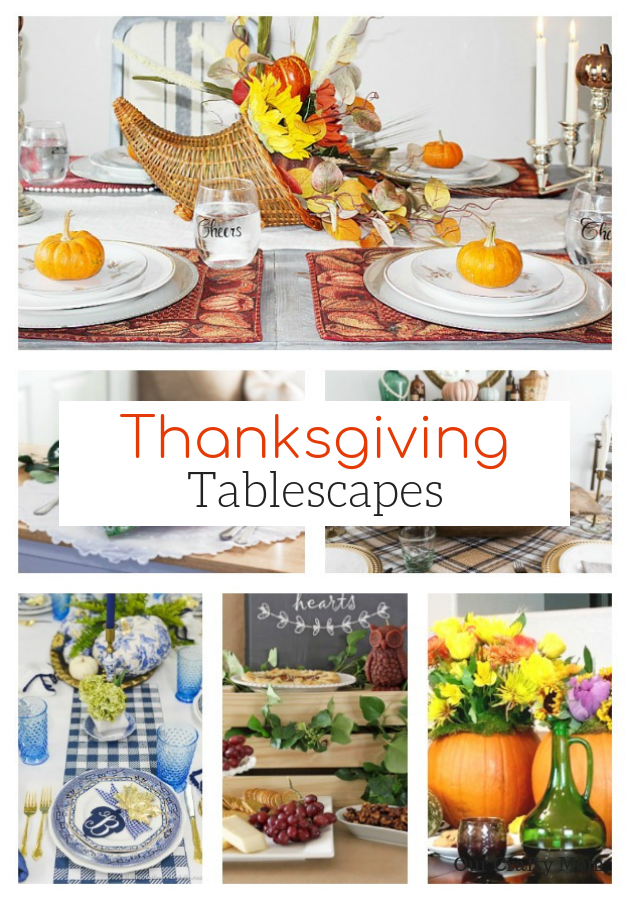 12 Ideas For A Beautiful Thanksgiving Tablescape #ourcraftymom #merrymonday #thanksgiving #tablescapes