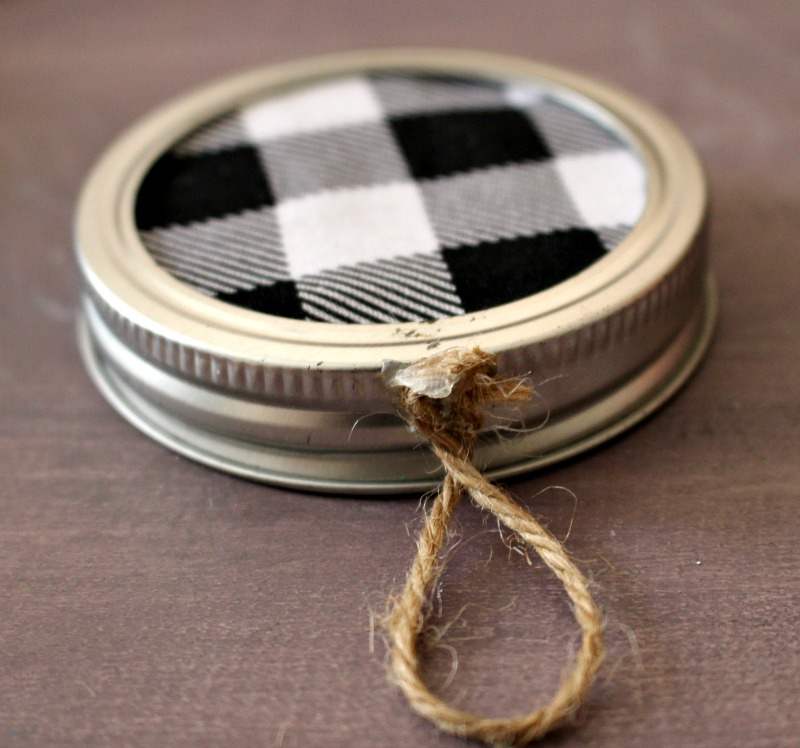 Twine On Mason Jar Lid