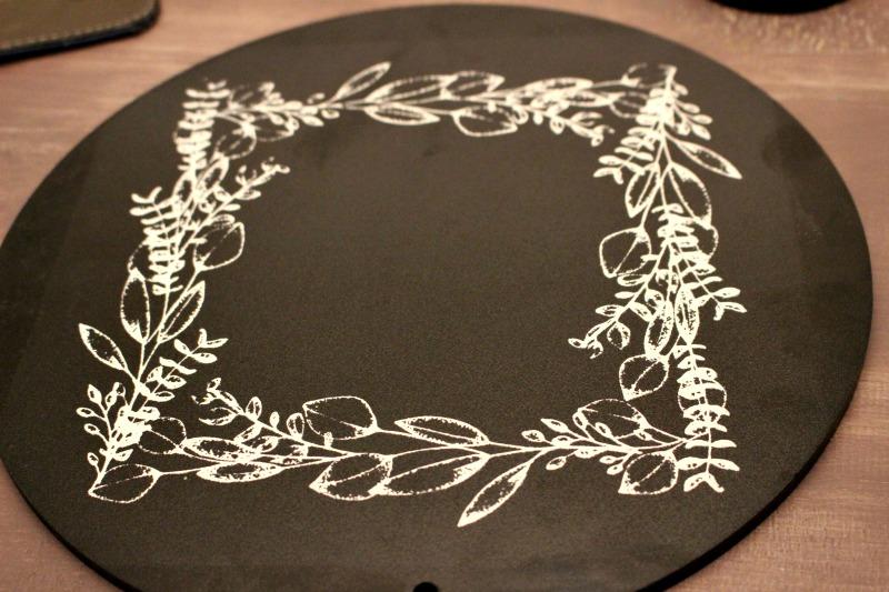 round chalkboard
