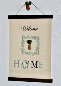 Create A Beautiful DIY Canvas Hanging Banner