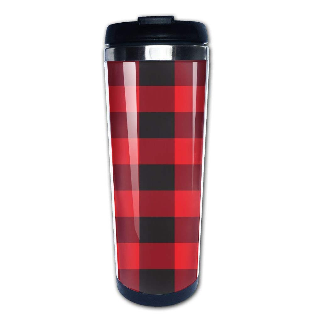 Buffalo Plaid Travel Coffee Cup