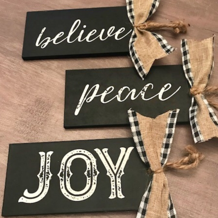 Chalkboard Christmas Ornaments