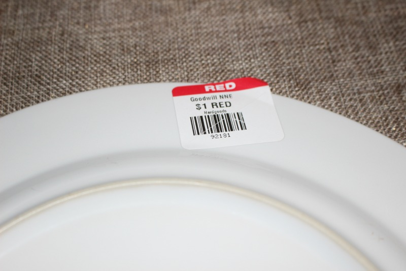 Dishes price tag
