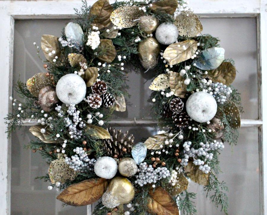 Finished Christmas Wreath