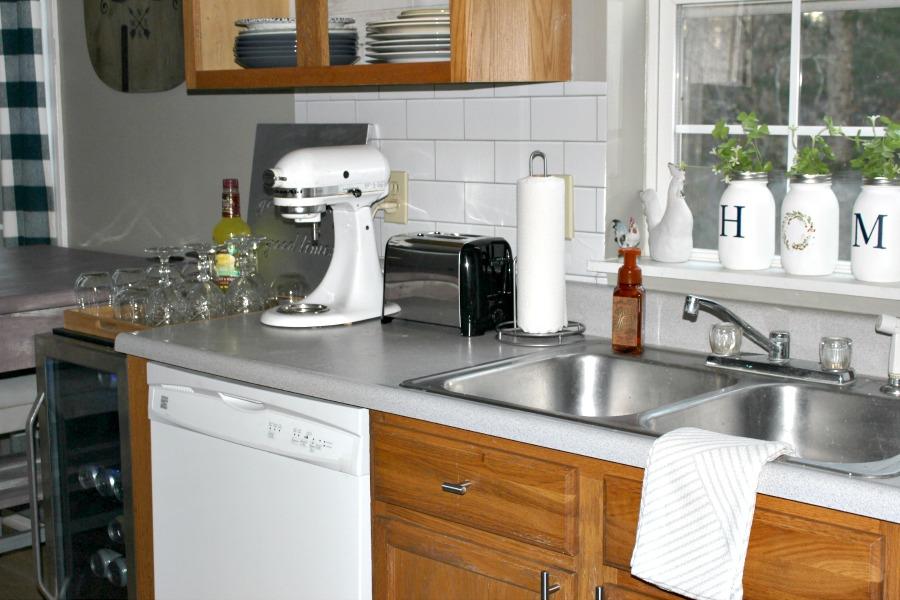 Kitchen Counter With Wine Fridge