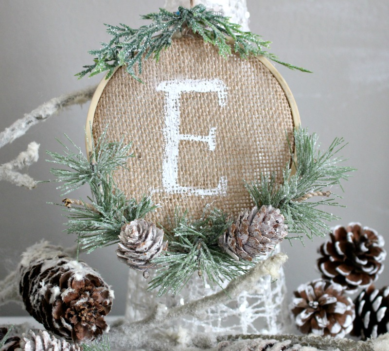 Personalized Burlap Ornament Our Crafty Mom