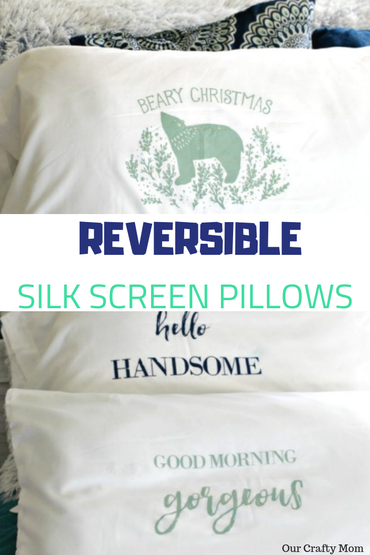 How To Make Reversible Christmas Pillows - Great Gift Idea! #ourcraftymom