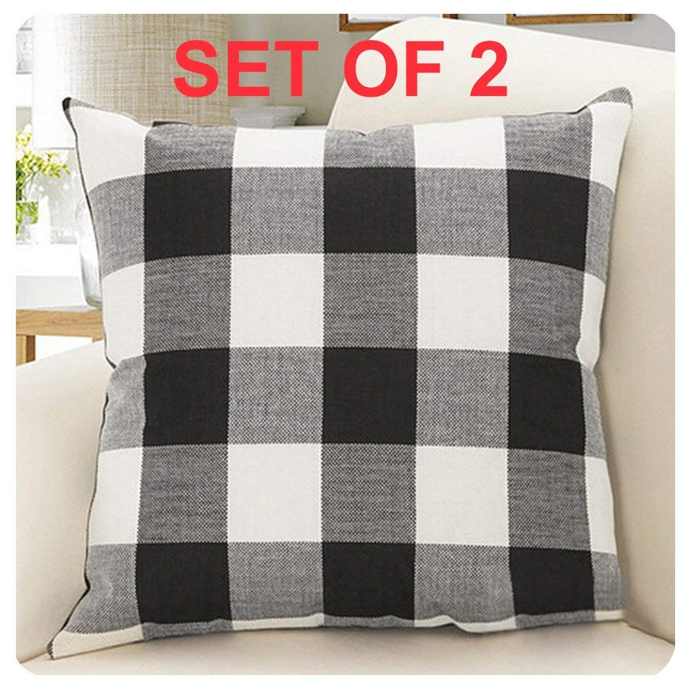 Set of 2 Buffalo Plaid Pillows