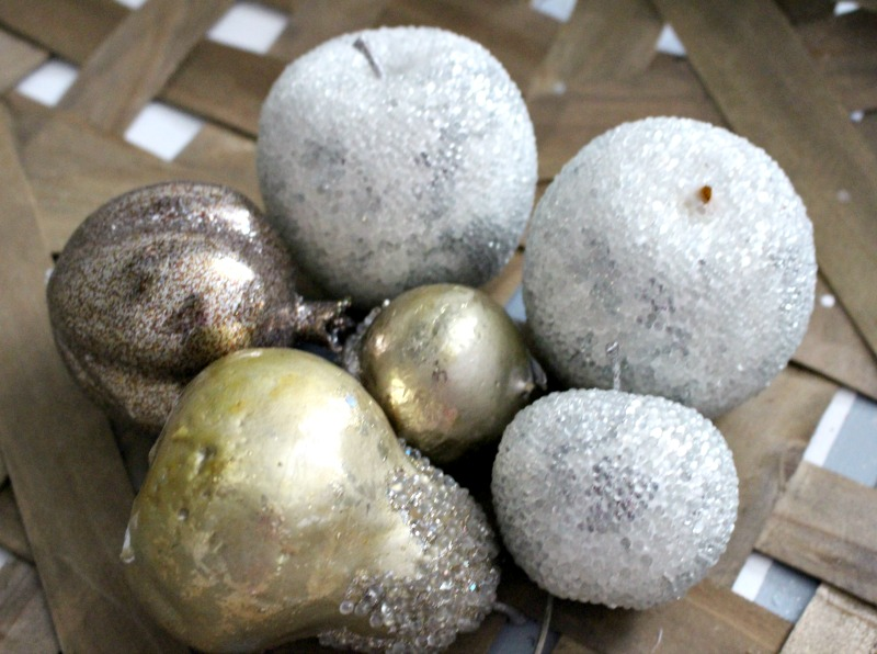close up sugared fruit
