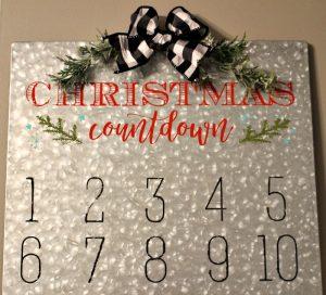 Make A Fun Magnetic Christmas Countdown Calendar