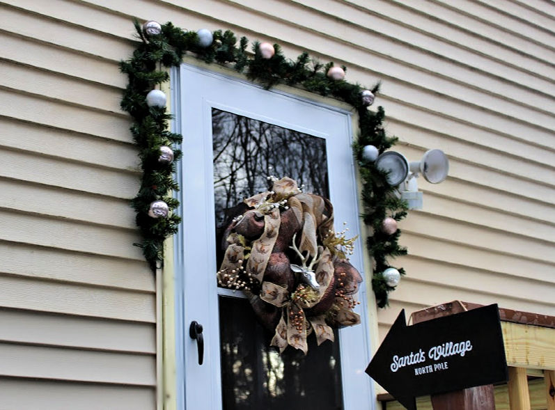 front door Christmas porch