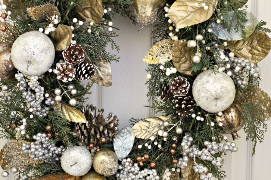 fruit close up wreath